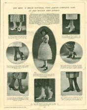 Publicité ancienne mode chaussures et au dos fillettes et garçons 1921 issue mag