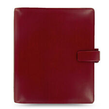 Filofax A5 Metropol Organiser Planner Notebook Diary Red Leather - 026972