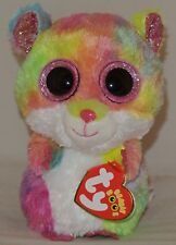 """New! 2018 Summer Release Ty Beanie Boos RODNEY Tie Dyed Hamster 6"""" new foil look"""