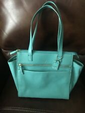 NWOT Seafoam Green Leather Fossil Shoulderbag - Double Straps