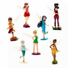 Disney Fairies Figure Figures Playset Set of 7 Fairy Figurines Boxed Set