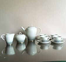 Richard Ginonri Art Deco Porcelain Demitasse Espresso Coffee Set, Gio Ponti ?