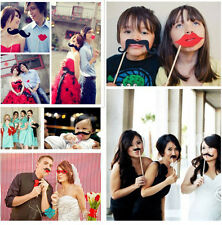 58PCS Masks Photo Booth Props Mustache On A Stick Birthday Wedding Party DIY p&M