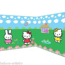 Hello Kitty adorable Fiesta Escena Setter Gigante Decoración Habitación Rollo Kit 3m de ancho
