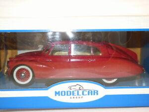 Model Car Group 1/18th Scale Tatra 87 in Dark Red