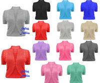New Womens Crochet Knitted Short Sleeve Ladies Bolero Cardigan Top Shrug 8 - 26