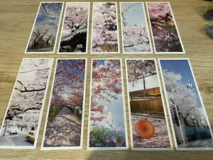 Pack of 10 bookmarks Japanese Cherry Blossom Or Chinese Bird Painting