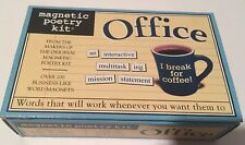 Magnetic Poetry Kit OFFICE 200 Business Like Words Magnet For Refrigerator File