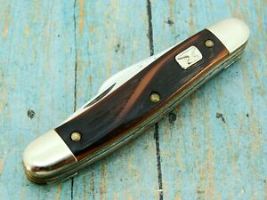 VINTAGE ANVIL BRAND USA FOLDING DOGLEG STOCKMAN POCKET KNIFE COLONIAL KNIVES NOS