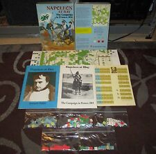 Vintage 1983 Napoleon at Bay Campaign in France Bookcase Game Avalon Hill 846