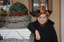 Tier Plüschmütze Waschbär Mütze Kindermütze Braun Childrens Furry Animal Hat Neu