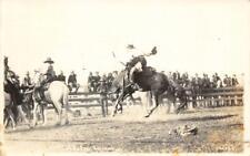 RPPC Salinas, California Rodeo Cowboys & Horses 1916 Vintage Postcard