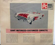 Ideal Motorized Early 1950s Corvette Model Craft Instructions