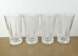 4 Rosenthal Crystal Blossom Highball Tumblers Glasses   (c@b7)
