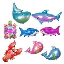 Sea Fish Turtle Whale Shark Foil Balloons For Birthday Party Decor Kids toys