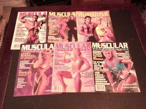 LOT OF 6 1989 1990 1991 MUSCULAR DEVELOPMENT MAGAZINES bodybuilding fitness