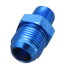 AN10 -10AN To 3/8'' NPT Aluminum Fuel Oil Straight Fitting Adapter Adaptor Blue