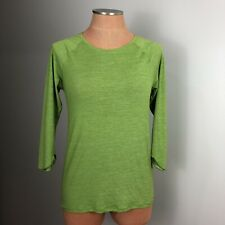 PATAGONIA Womens Size Small Workout Outdoor Lime Green Top 3/4 Layer Top