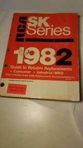 Vintage RCA SK Series Solid State Replacement Guide Semiconductors 1982