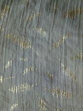 Large shawl wrap scarf grey silver feather print