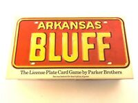 License Plate Board Game Arkansas Bluff Card Parker Brothers 1975 Complete