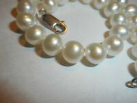 """6.5mm South Sea Salt Water WHITE Pearl Bracelet Ster clasp knotted silk 7.25"""""""