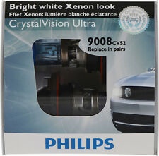 NEW Headlight Bulb-CrystalVision Ultra - Special Twin Pack Philips 9008CVS2 9008