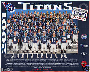2001 TENNESSEE TITANS TEAM 8X10 PHOTO PICTURE MCNAIR GEORGE KEARSE ROLLE