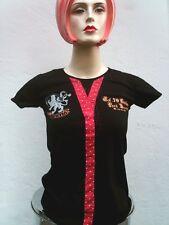 Punk Berry Pink Dots Briefs Tie Patch Rockabilly Emo Tattoo T-Shirt S 36