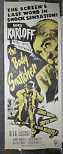 THE BODY SNATCHER original 14x36 poster BORIS KARLOFF/BELA LUGOSI/VAL LEWTON