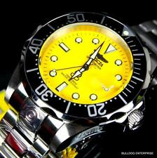 Invicta Grand Diver Yellow 47mm NH35A Automatic Silver Stainless Steel Watch New