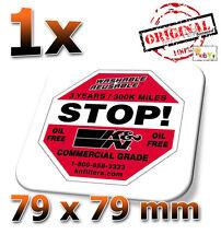 """K&N STOP 79x79 mm - 3"""" - Sticker, Aufkleber, Decal, Autocollant, Étiquette"""