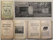 Wulf Ratschläge u. Skizzen Bau von Geflügel- und Kaninchenställen 1911  xz
