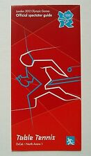 TABLE TENNIS Official SPECTATOR GUIDE London 2012 Olympic Games ticket