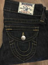 "True Religion Women's Denim Jeans 27"" Waist 33"" Inseam Flap Pockets Hi Rise Boot"