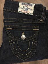 "True Religion Women's Denim Jeans 27"" Waist 33"" Inseam Flap Pockets Hi Rise Boot"
