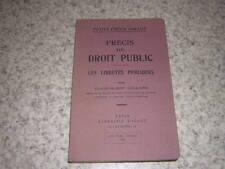 1955.précis de droit public / Colliard