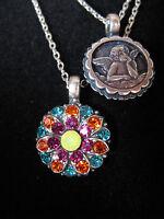 MARIANA GUARDIAN ANGEL SWAROVSKI CRYSTALS FLOWER Necklace Pendant Gift