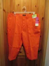 NEW Riders by Lee Plus 22W Mid-Rise Stretch Capri Pants Coral Capris Comfort