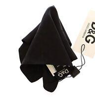 DOLCE & GABBANA D&G Black Silk Handkerchief Pochette Square Pocket RRP $170