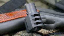 1911 .45 acp Mil-Spec muzzle brake BLACK PUNISHER compensator + FREE SPRING PLUG