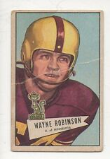 1952 Bowman Small Football Card #68 Wayne Robinson-Philadelphia Eagles