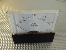 "AC. Panel METER 0 - 20v Volt  4"" X 3 1/2"" NEW For CB Radio Ham Amp Amplifier"