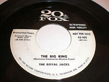 The Royal Jacks 45 The Big Ring 20th CENTURY FOX PROMO