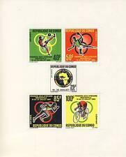 TIMBRE BLOC DU CONGO N° 2 ** PREMIERS JEUX AFRICAINS BRAZZAVILLE