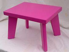 Handmade Pine/MDF,Pink Children Step Stool, Kids Stool,Chair (Sturdy)Boys&Girls