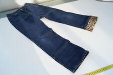 Informalmente cambio 7/8 jeans señora pantalones de verano elástico Stone Wash talla 36 darkblue