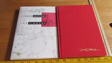 Dan Simmons Summer Sketches signed only 3000 HCDJ book HTF 1992