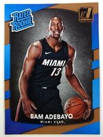 2017-18 Panini Donruss Rated Rookie Bam Adebayo RC #187, Miami Heat