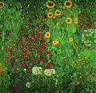 Country Garden with Sunflowers,Gustav Klimt Picture Canvas Giclee Print Painting